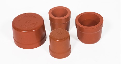 Molded Red Rubber Test Caps