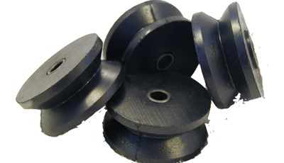 Molded Rubber Target Carrier Wheel for Shooting Range