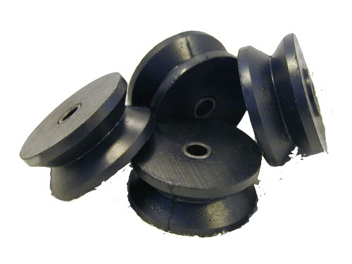 Press Fit Metal ID in Molded Rubber V-Roller