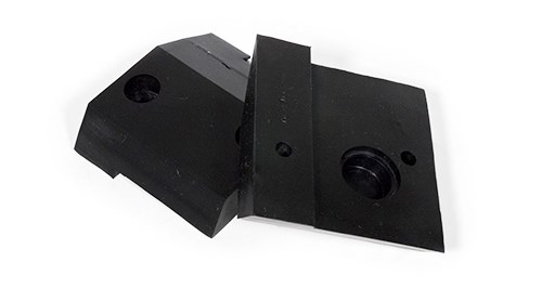 Molded Rubber Bumpers with Metal Reinforcement