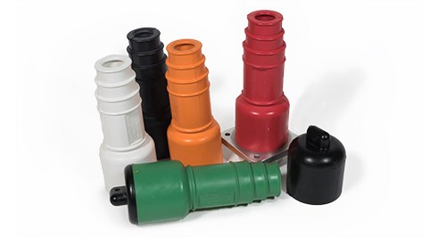 Molded Colored Rubber Electrical Connection Insulators