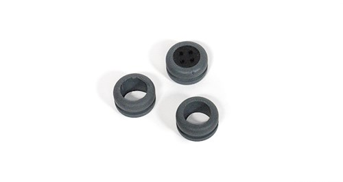 Custom Molded Gray Rubber Grommet