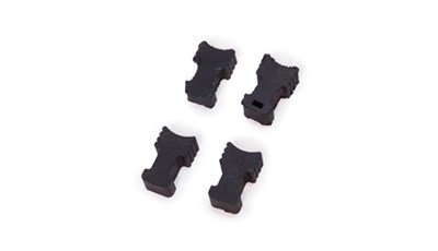 Molded rubber guitar capo fingers