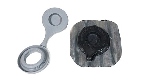 Molded Rubber Integrated Seal and Cap