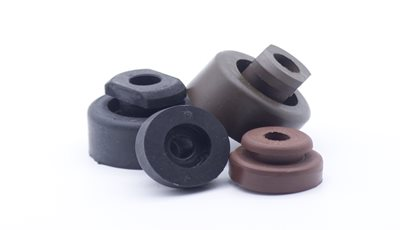Colored Rubber Durometer Differentiation