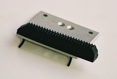 Molded Rubber Geared Bumper with Locking Grommets